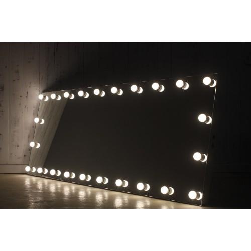 Безрамное гримерное зеркало с подсветкой 80х200